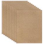 8.5 x 11 Chipboard - Standard - 20pt - Natural - Ten Sheets