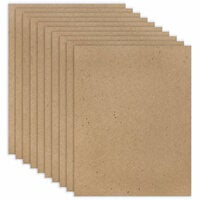 Scrapbook.com - 8.5 x 11 Chipboard - Standard - 20pt - Natural - Ten Sheets