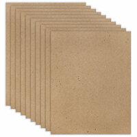 Scrapbook.com - 8.5 x 11 Chipboard - Standard - 20pt - Natural - Ten Sheets