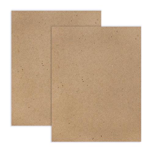 Scrapbook.com - 8.5 x 11 Chipboard - 2X Heavy - 85pt - Natural - 2 Sheets