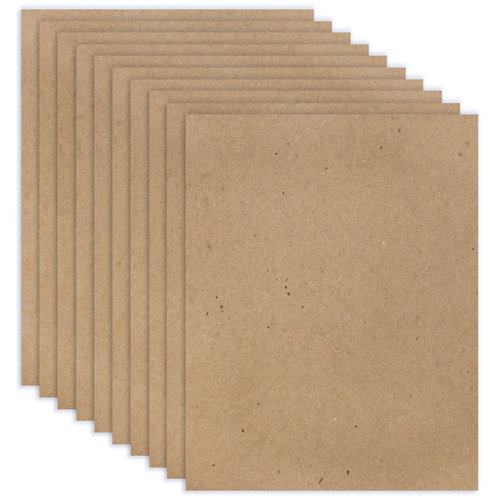 Scrapbook.com - 8.5 x 11 Chipboard - 2X Heavy - 85pt - Natural - Ten Sheets