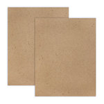 8.5 x 11 Chipboard - 1X Heavy - 52pt - Natural - 2 Sheets