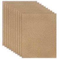 Scrapbook.com - 8.5 x 11 Chipboard - 1X Heavy - 52pt - Natural - Ten Sheets