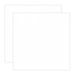 12 x 12 Chipboard - 1X Heavy - 50pt - White 2 Side - 2 Sheets