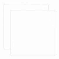 Scrapbook.com - 12 x 12 Chipboard - 1X Heavy - 50pt - White 2 Side - 2 Sheets