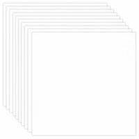 Scrapbook.com - 12 x 12 Chipboard - 1X Heavy - 50pt - White 2 Side - Ten Sheets