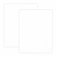Scrapbook.com - 8.5 x 11 Chipboard - 1X Heavy - 50pt - White 2 Side - 2 Sheets