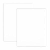 Scrapbook.com - 8.5 x 11 Chipboard - 1X Heavy - 50pt - White 2 Side - 2 Sheets