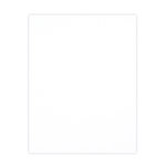 8.5 x 11 Chipboard - 1X Heavy - 50pt - White 2 Side - One Sheet