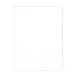 8.5 x 11 Chipboard - 1X Heavy - 50pt - White 2 Side - One Sheet