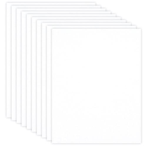 Scrapbook.com - 8.5 x 11 Chipboard - 1X Heavy - 50pt - White 2 Side - Ten Sheets