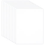 8.5 x 11 Chipboard - 1X Heavy - 50pt - White 2 Side - Ten Sheets