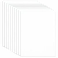 Scrapbook.com - 8.5 x 11 Chipboard - 1X Heavy - 50pt - White 2 Side - Ten Sheets