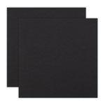 12 x 12 Chipboard - 1X Heavy - 50pt - Black - 2 Sheets