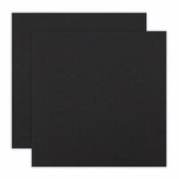 Scrapbook.com - 12 x 12 Chipboard - 1X Heavy - 50pt - Black - 2 Sheets