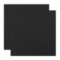 Scrapbook.com - 12 x 12 Chipboard - 1X Heavy - 50pt - Black - 2 Sheets