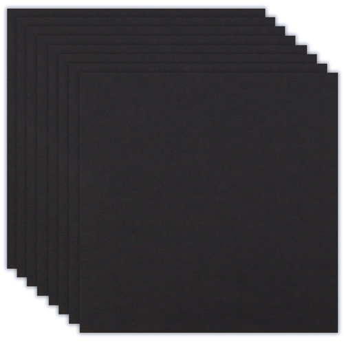 Scrapbook.com - 12 x 12 Chipboard - 1X Heavy - 50pt - Black - Ten Sheets