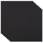 12 x 12 Chipboard - 1X Heavy - 50pt - Black - Ten Sheets