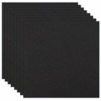 12 x 12 Chipboard - 1X Heavy - 50pt - Black - Ten Sheets