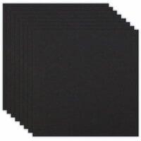 Scrapbook.com - 12 x 12 Chipboard - 1X Heavy - 50pt - Black - Ten Sheets