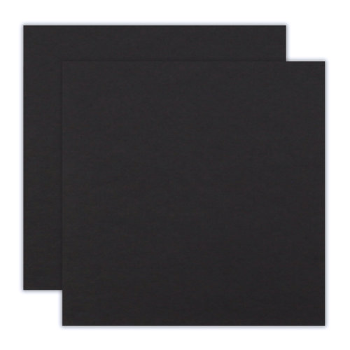 Scrapbook.com - 12 x 12 Chipboard - 2X Heavy - 90pt - Black - 2 Sheets