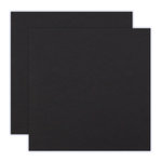 12 x 12 Chipboard - 2X Heavy - 90pt - Black - 2 Sheets