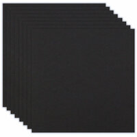 Scrapbook.com - 12 x 12 Chipboard - 2X Heavy - 90pt - Black - Ten Sheets