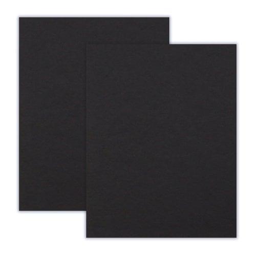 Scrapbook.com - 8.5 x 11 Chipboard - 1X Heavy - 50pt - Black - 2 Sheets