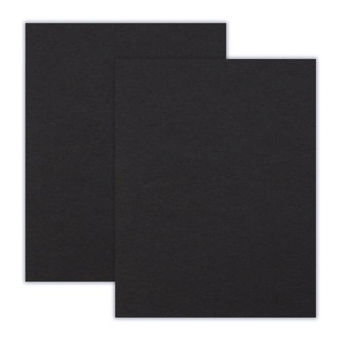 8.5 x 11 Chipboard - 1X Heavy - 50pt - Black - 2 Sheets