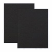 Scrapbook.com - 8.5 x 11 Chipboard - 1X Heavy - 50pt - Black - 2 Sheets