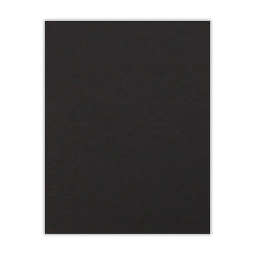 Scrapbook.com - 8.5 x 11 Chipboard - 1X Heavy - 50pt - Black - One Sheet