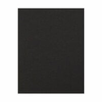 Scrapbook.com - 8.5 x 11 Chipboard - 1X Heavy - 50pt - Black - One Sheet