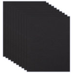 8.5 x 11 Chipboard - 1X Heavy - 50pt - Black - Ten Sheets