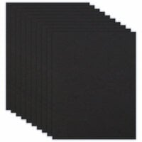 Scrapbook.com - 8.5 x 11 Chipboard - 1X Heavy - 50pt - Black - Ten Sheets