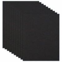 8.5 x 11 Chipboard - 1X Heavy - 50pt - Black - Ten Sheets