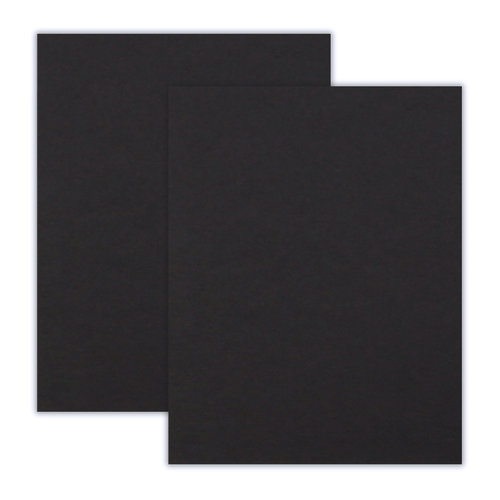 Scrapbook.com - 8.5 x 11 Chipboard - 2X Heavy - 90pt - Black - 2 Sheets
