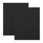8.5 x 11 Chipboard - 2X Heavy - 90pt - Black - 2 Sheets