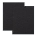 8.5 x 11 Chipboard - 2X Heavy - 90pt - Black - 2 Sheets