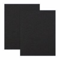 Scrapbook.com - 8.5 x 11 Chipboard - 2X Heavy - 90pt - Black - 2 Sheets