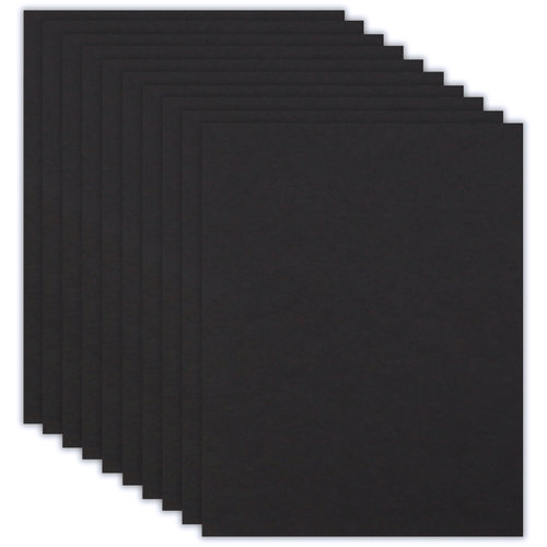 Scrapbook.com - 8.5 x 11 Chipboard - 2X Heavy - 90pt - Black - Ten Sheets