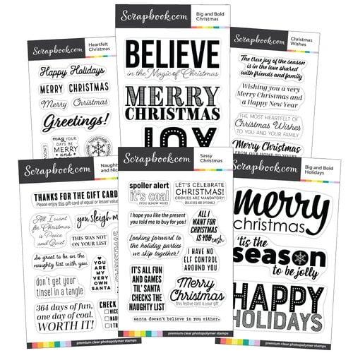 Clear Photopolymer Stamp Set - Christmas Bundle