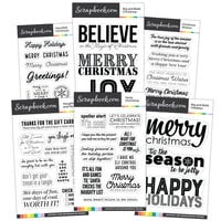 Scrapbook.com - Clear Photopolymer Stamp Set - Christmas Bundle