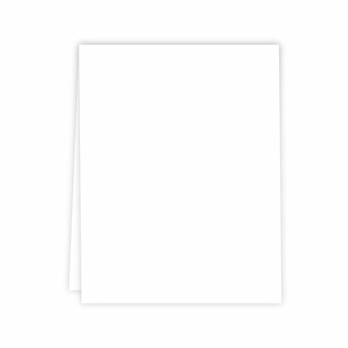Cards - Neenah, Solar White A2 - Vertical Scored - 25 Pack