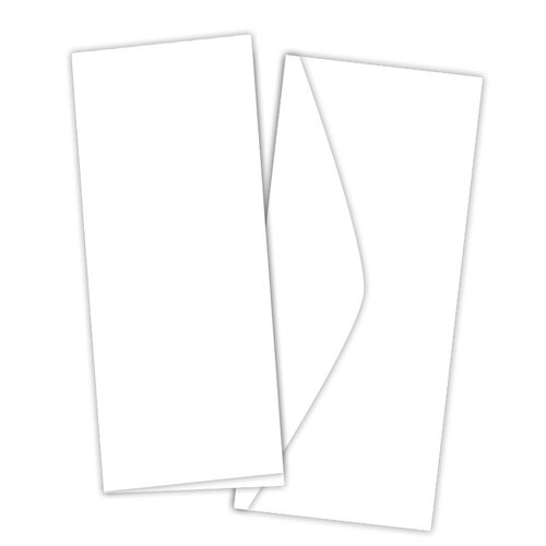 Scrapbook.com - Card and Envelope Set - Slimline Neenah Solar White - 10 Pack