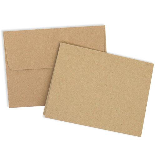 Card and Envelope Set - A2 Kraft - 25 Pack