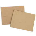 Card and Envelope Set - A2 Kraft - 25 Pack