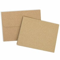 Scrapbook.com - Card and Envelope Set - A2 Kraft - 25 Pack