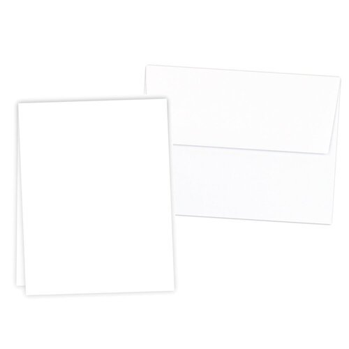 Scrapbook.com - Neenah Solar White - 25 Pack - Vertical Scored Cards and Envelopes