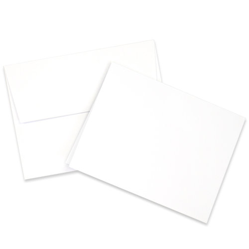Scrapbook.com - Card and Envelope Set - A2 Neenah Solar White - 25 Pack
