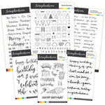 Clear Photopolymer Designer Stamps - Celebration Bundle